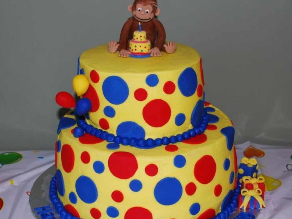 Stupendous Curious George Birthday Cake Cakecentral Com Personalised Birthday Cards Beptaeletsinfo