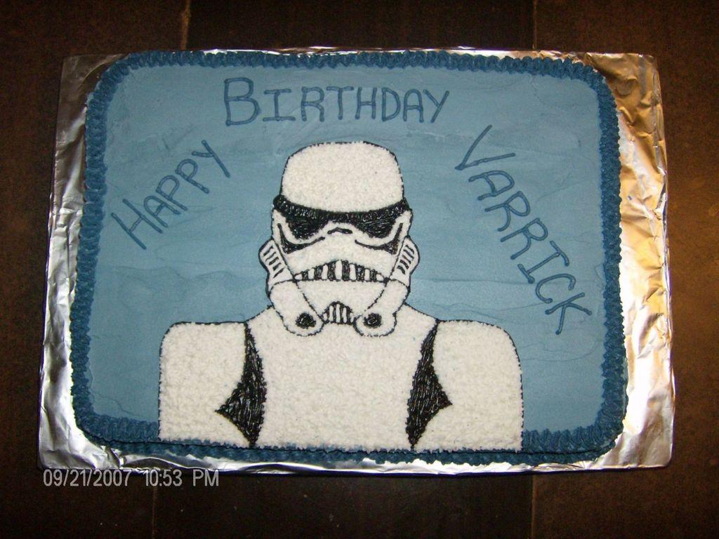 Brilliant Star Wars Birthday Cake Storm Trooper Cakecentral Com Personalised Birthday Cards Vishlily Jamesorg