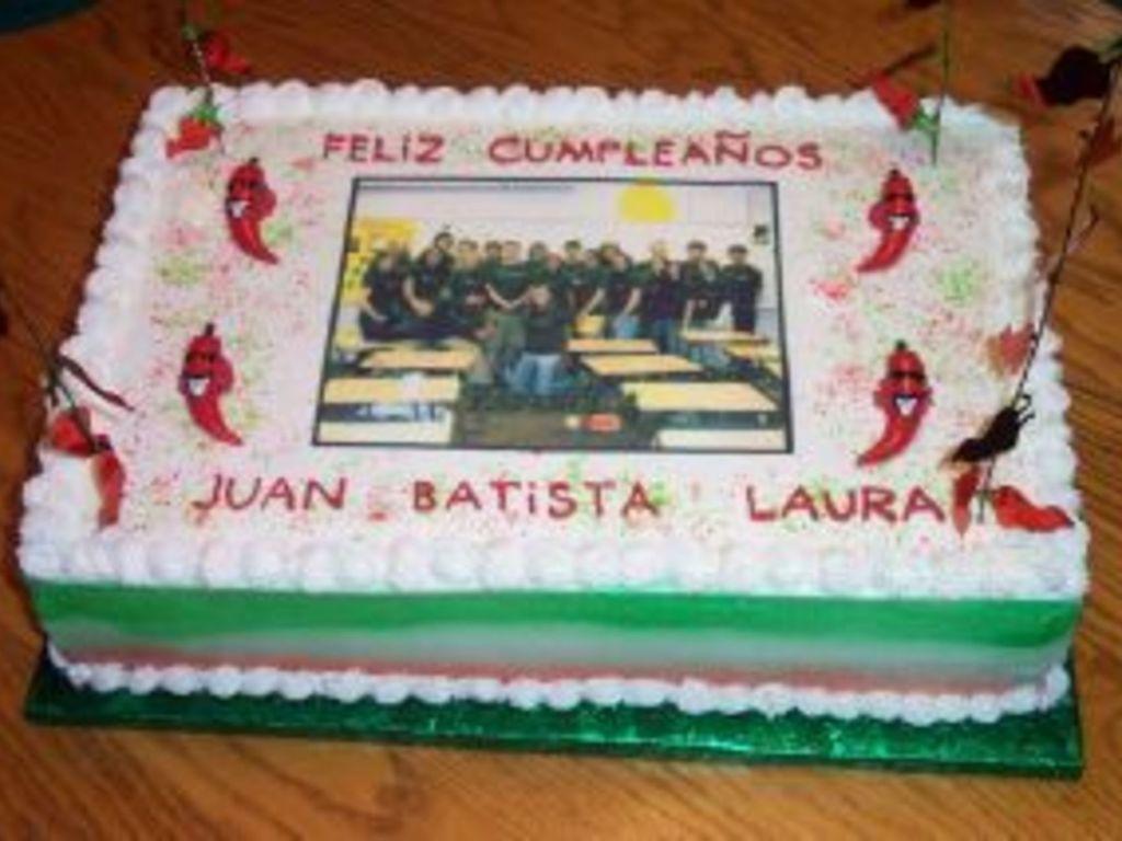 Terrific My Sons Birthday Cake For Spanish Class At School Cakecentral Com Funny Birthday Cards Online Inifodamsfinfo