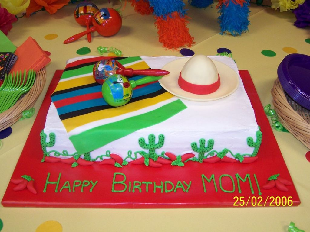 Admirable Fiesta Birthday Cake Cakecentral Com Birthday Cards Printable Giouspongecafe Filternl
