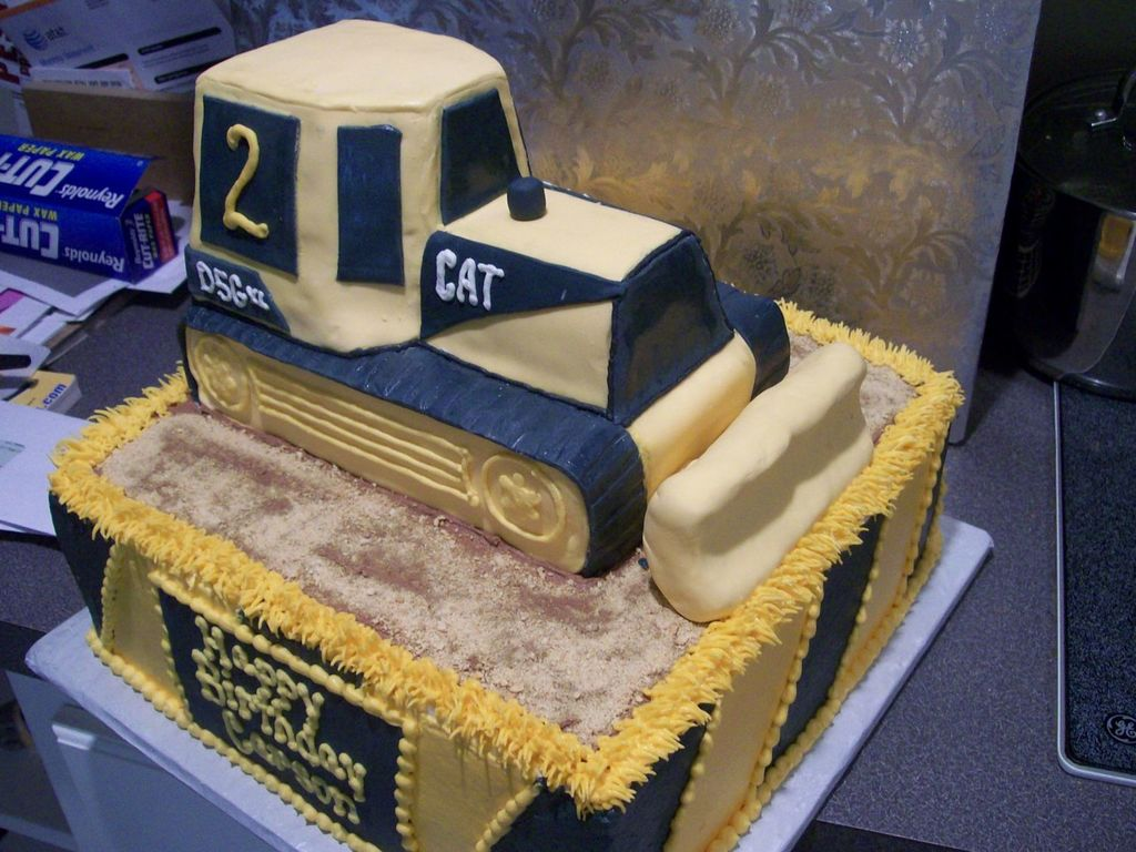 Remarkable Bulldozer Birthday Cake Cakecentral Com Personalised Birthday Cards Beptaeletsinfo