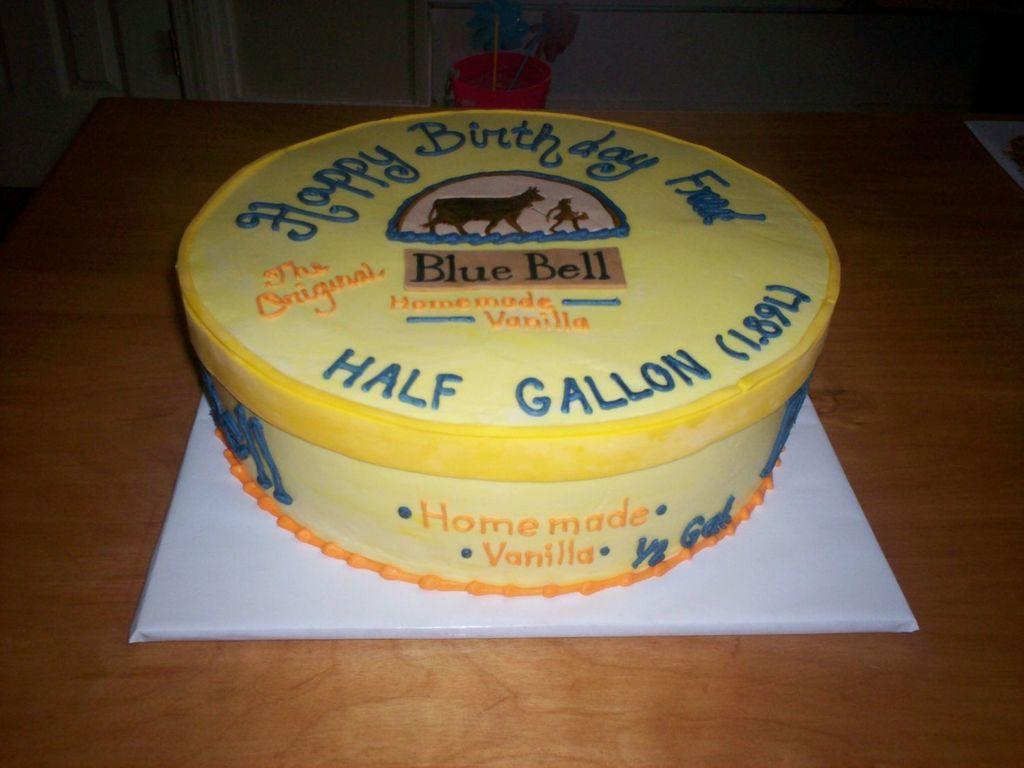 Marvelous Blue Bell Ice Cream Cake Cakecentral Com Personalised Birthday Cards Veneteletsinfo