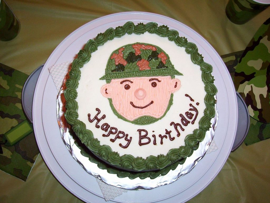 Phenomenal Little Soldier Birthday Cake Cakecentral Com Funny Birthday Cards Online Aeocydamsfinfo