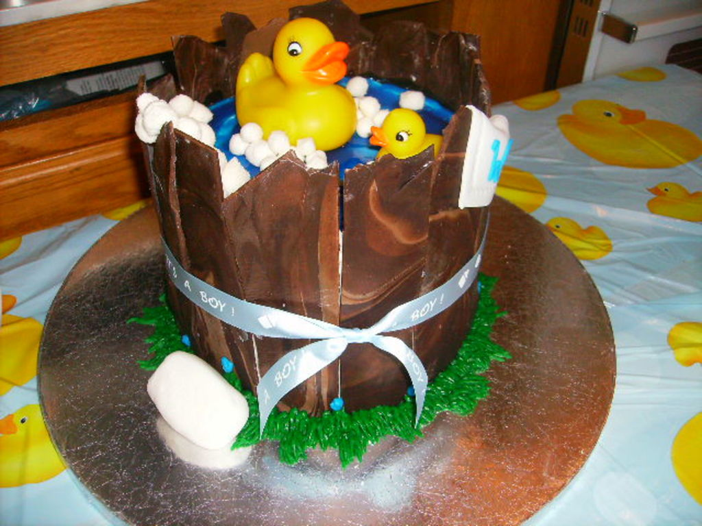 Ducky Bath In A Barrel - CakeCentral.com