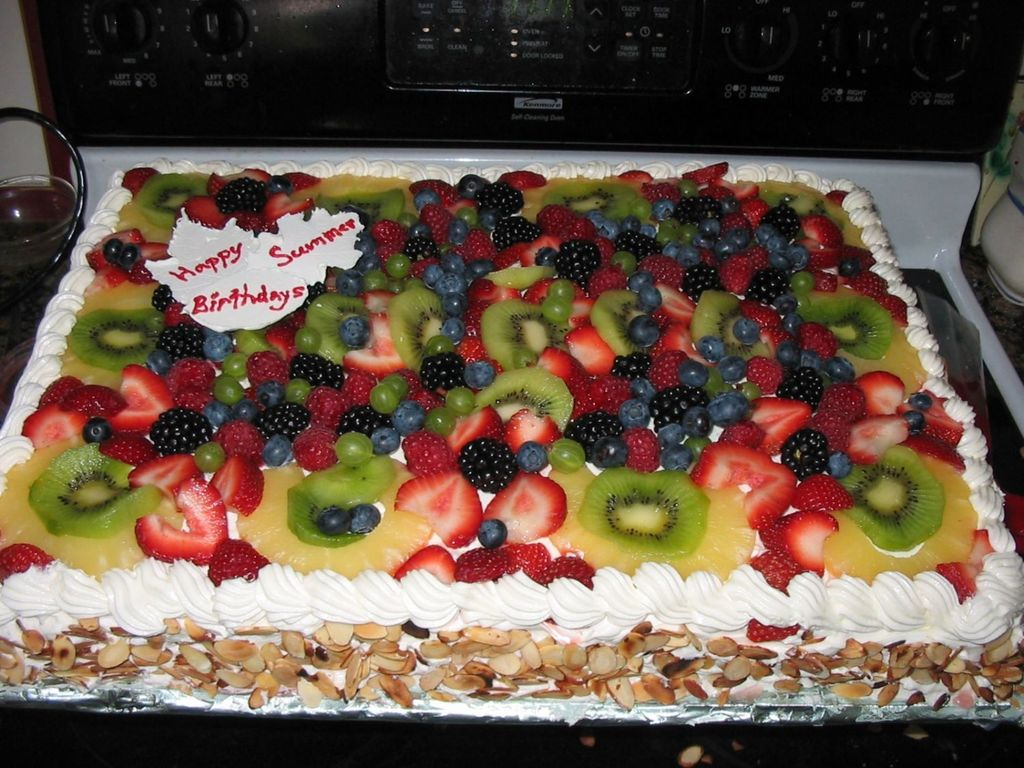 Yellow And Chocolate Cake With Fresh Fruit Topping CakeCentralcom