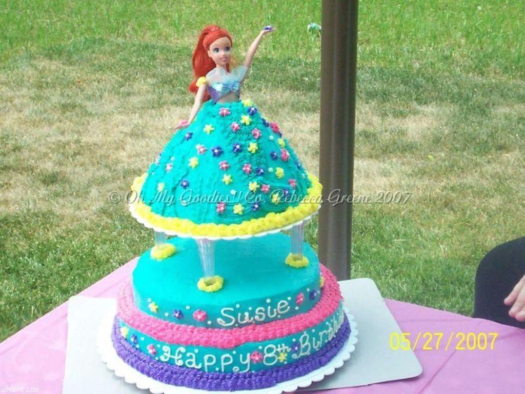 Astonishing My Daughters 8Th Birthday Princess Ariel Cake Cakecentral Com Funny Birthday Cards Online Drosicarndamsfinfo