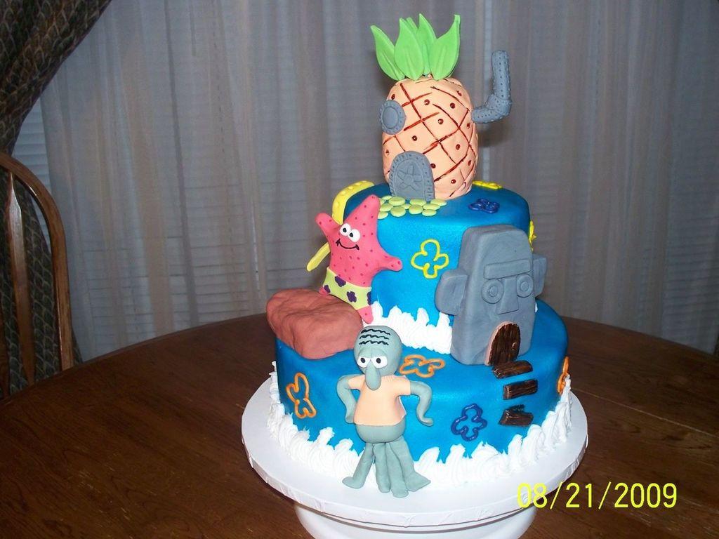 Fantastic Bikini Bottom Birthday Cake Cakecentral Com Funny Birthday Cards Online Kookostrdamsfinfo