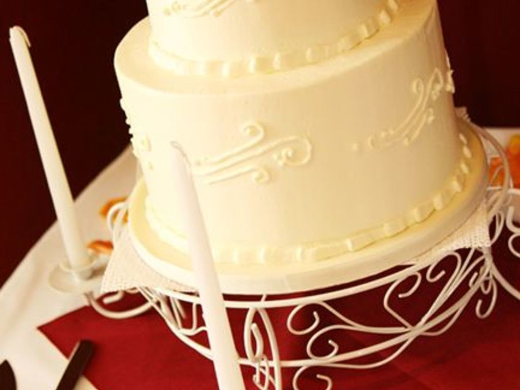 Simple 2 Tier With Scrollwork - CakeCentral.com