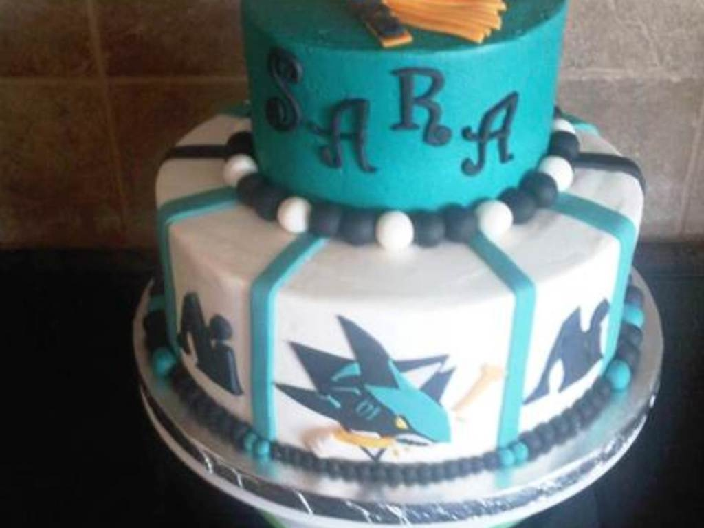 San Jose Shark Fan Graduation Cake Cakecentral