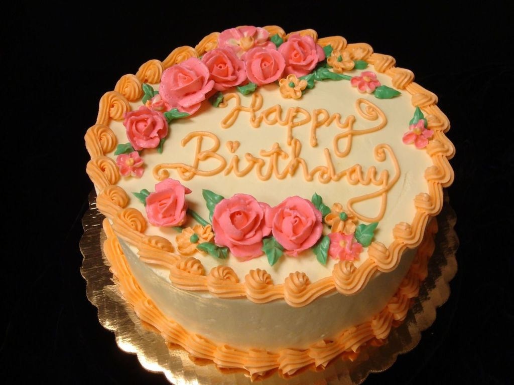 Groovy Orange Pink Birthday Cake Cakecentral Com Funny Birthday Cards Online Aeocydamsfinfo