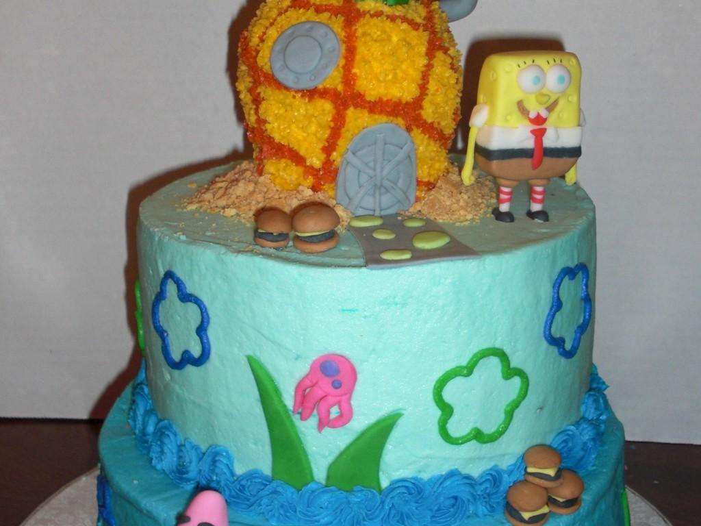 Excellent Bikini Bottom Cake Cakecentral Com Funny Birthday Cards Online Kookostrdamsfinfo