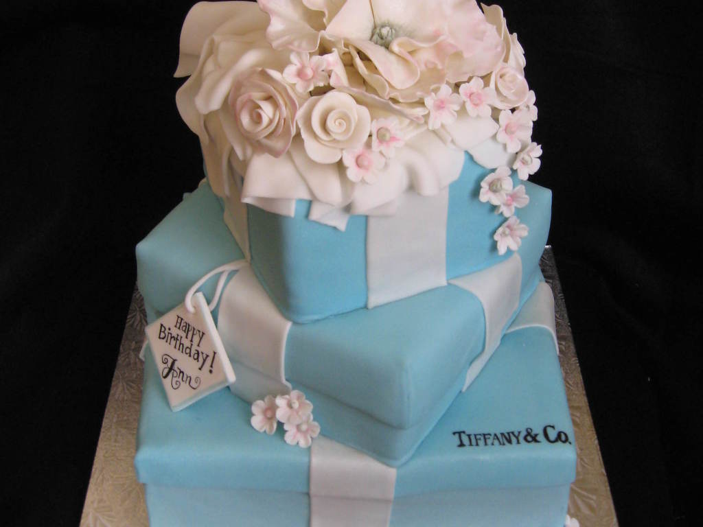 Tiffany Co Stacked Box Birthday Cake Cakecentral