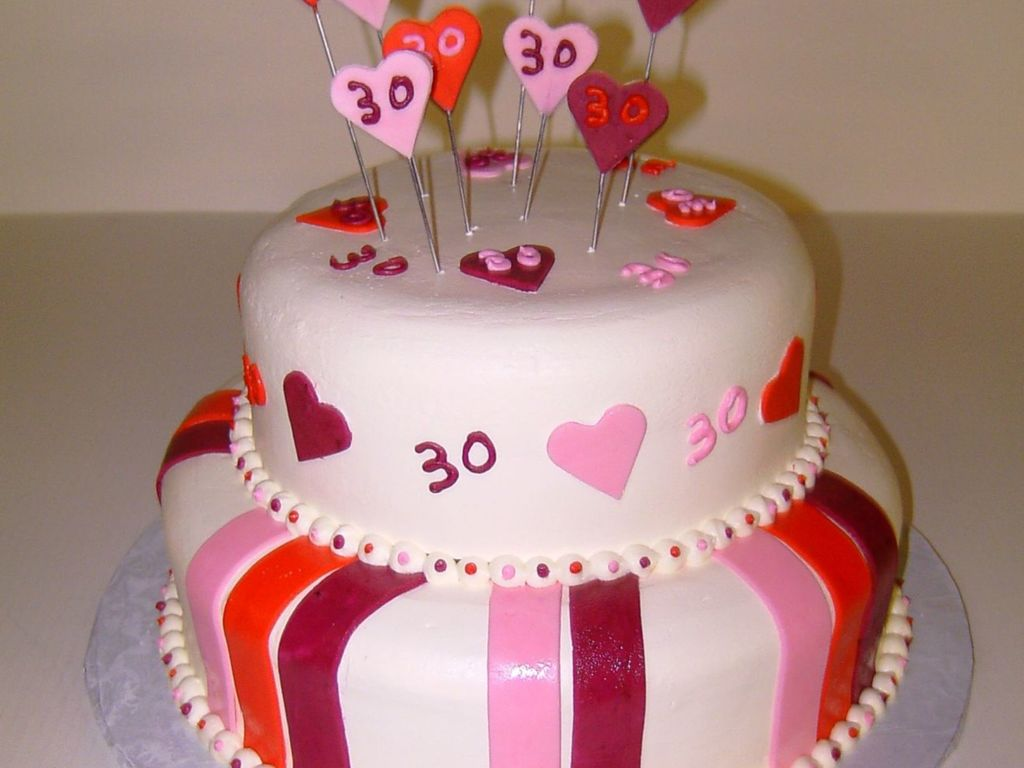 30 Year Old Birthday Cake