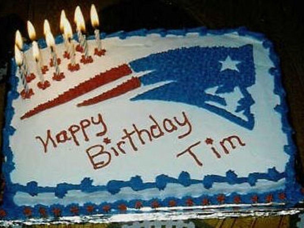 Sensational New England Patriots Birthday Cake Cakecentral Com Funny Birthday Cards Online Elaedamsfinfo