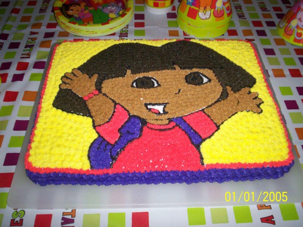 Dora The Explorer Sheet Cake - CakeCentral.com