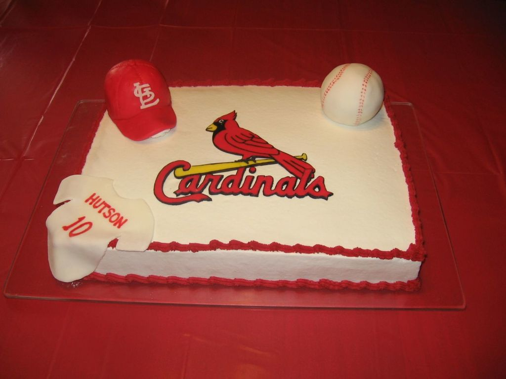 Amazing St Louis Cardinal Birthday Cake Cakecentral Com Funny Birthday Cards Online Fluifree Goldxyz