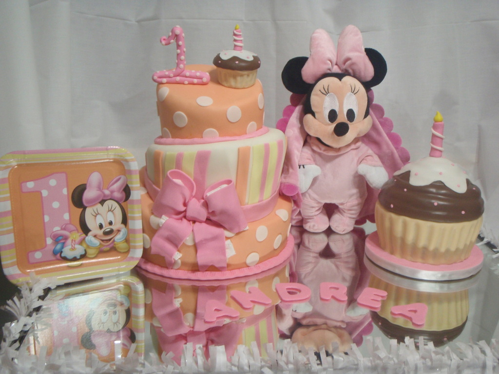 Superb Baby Minnie First Birthday Cakecentral Com Birthday Cards Printable Riciscafe Filternl