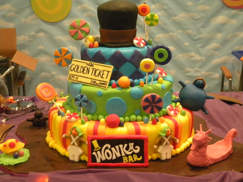 charlie and the chocolate factory birthday cake cakecentral com