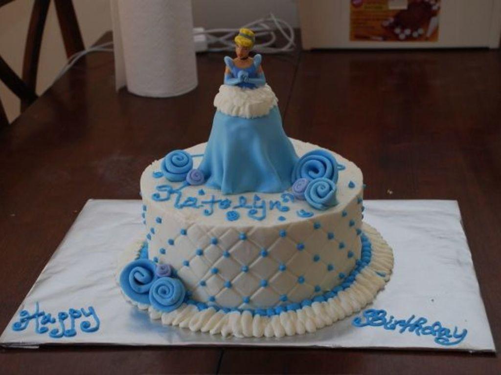 Fine Cinderella Birthday Cake Cakecentral Com Funny Birthday Cards Online Drosicarndamsfinfo