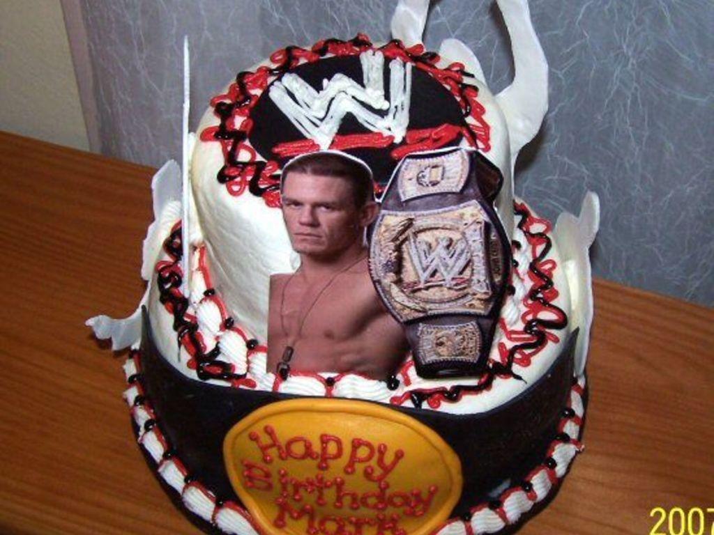 Wwe Wrestling Birthday Cake Cakecentral