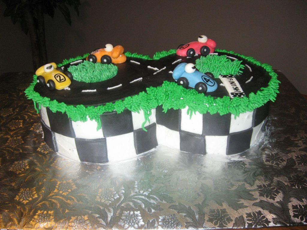 Race Car Themed Birthday Cake Cakecentral Com