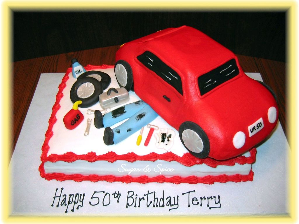Car Mechanic Birthday - CakeCentral.com