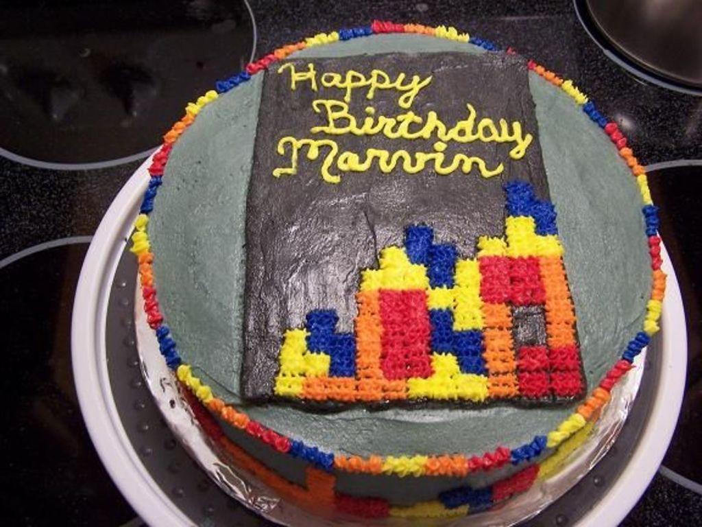 Tetris Birthday Cake CakeCentralcom - Tetris birthday cake