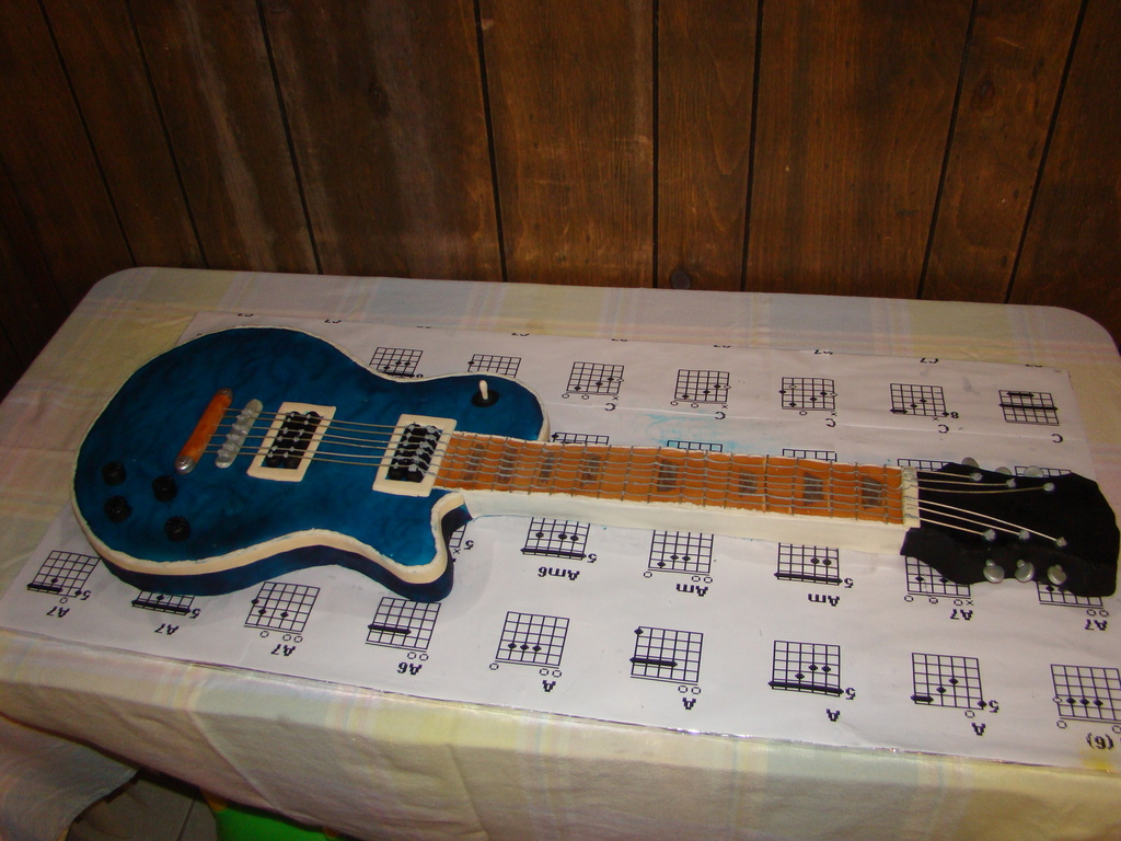 Guitar Birthday Cake Cakecentral