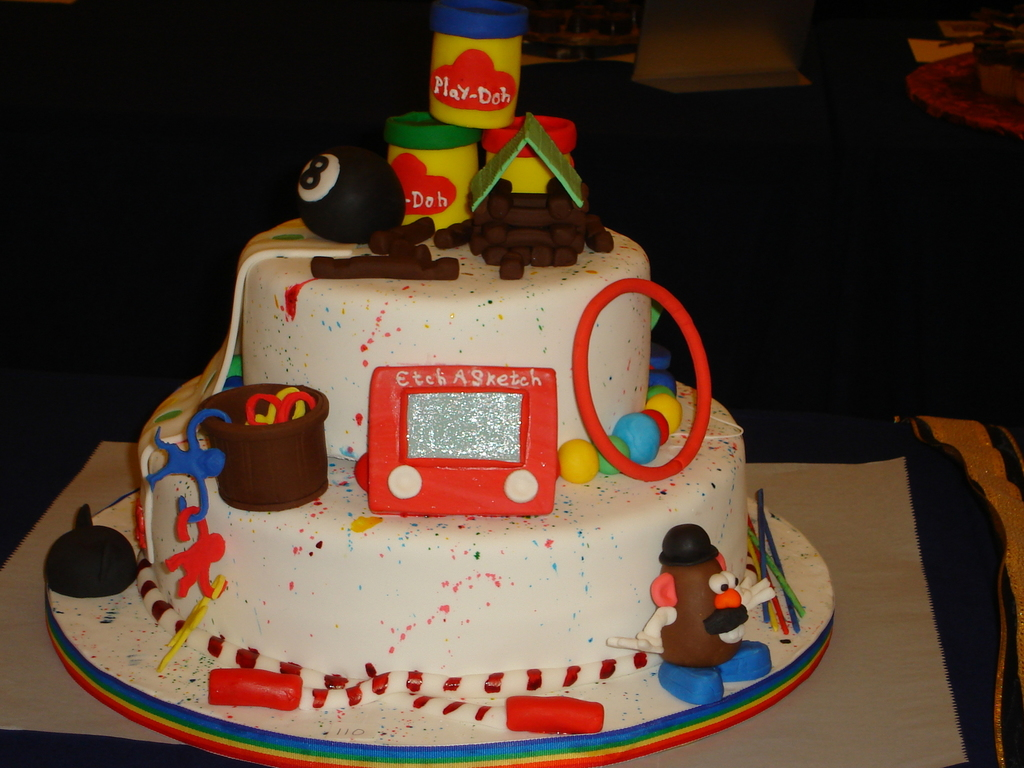 1960s Toys Themed Cake Cakecentral
