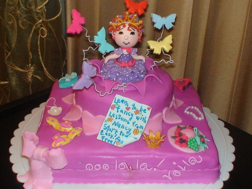 Phenomenal Fancy Nancy Birthday Cake Cakecentral Com Funny Birthday Cards Online Barepcheapnameinfo