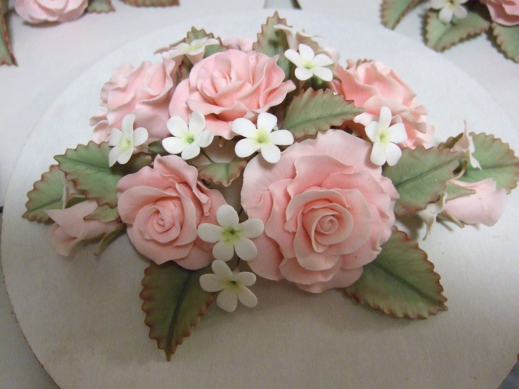 Pink Rose And Small Filler Flowers Cakecentral