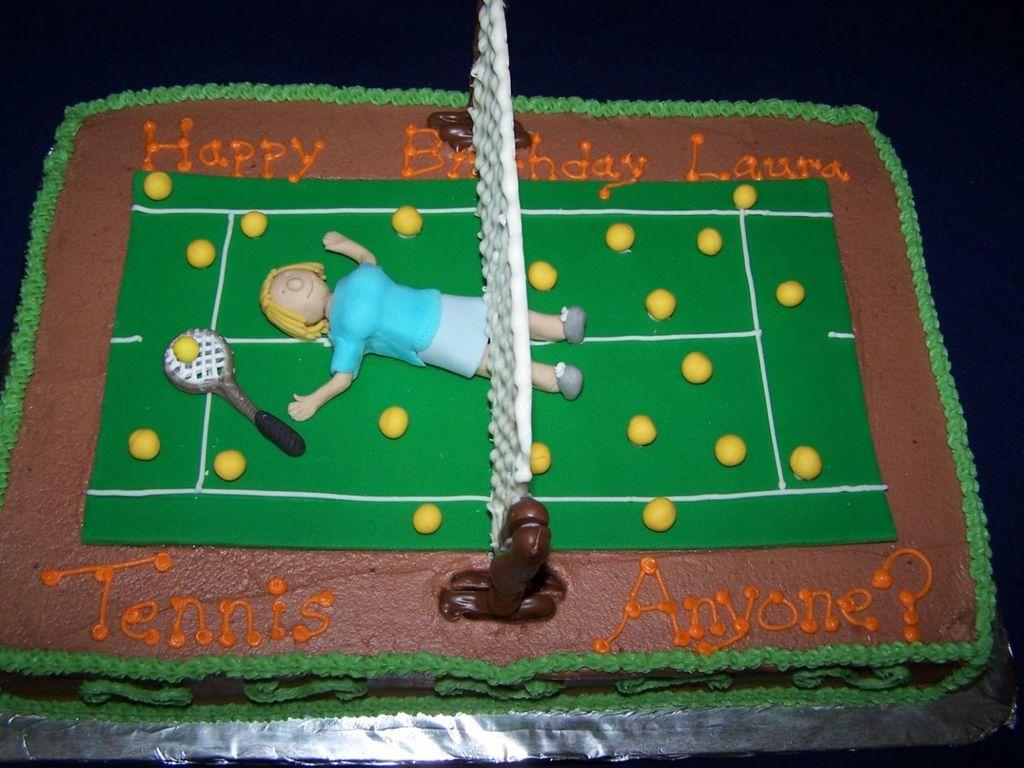 Super Tennis Birthday Cake Cakecentral Com Funny Birthday Cards Online Alyptdamsfinfo