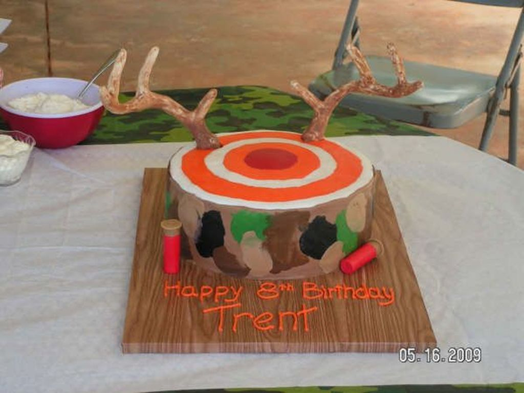 Stupendous Target Antlers Camo Hunting Cake Cakecentral Com Birthday Cards Printable Trancafe Filternl