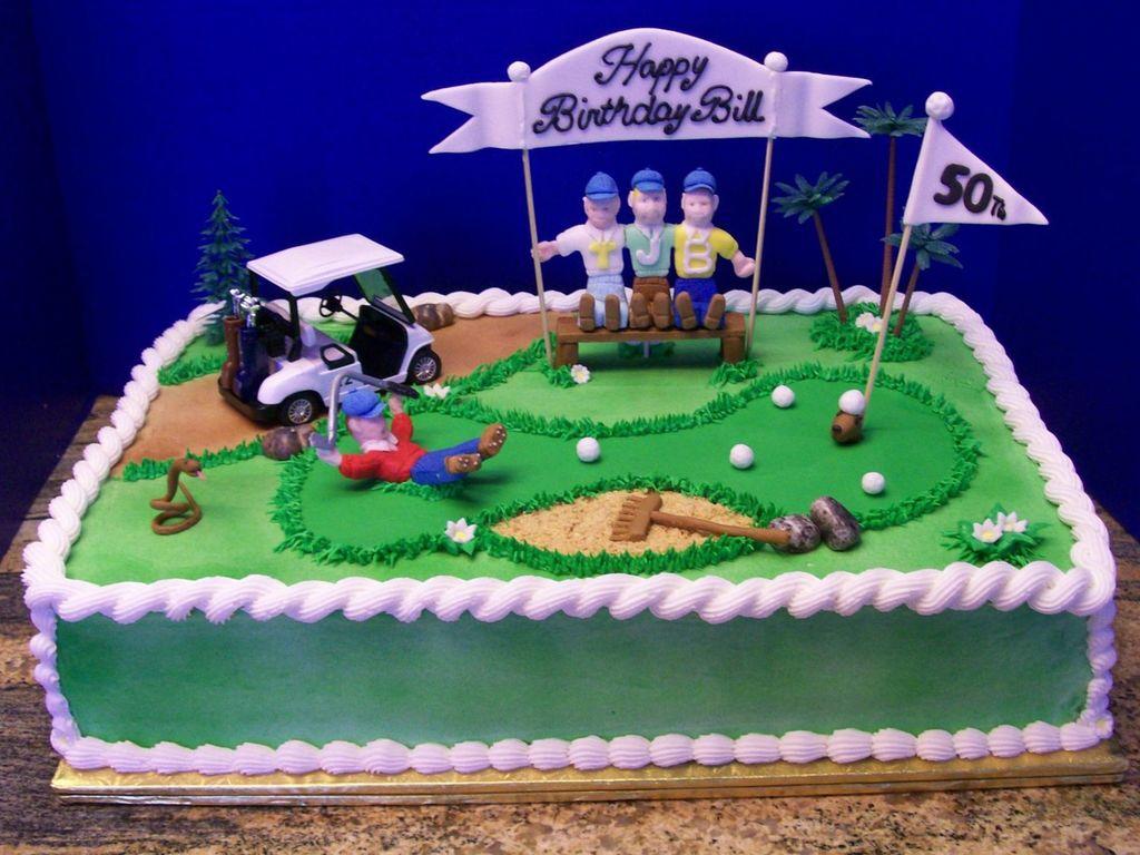 50Th Birthday For A Golfer CakeCentralcom