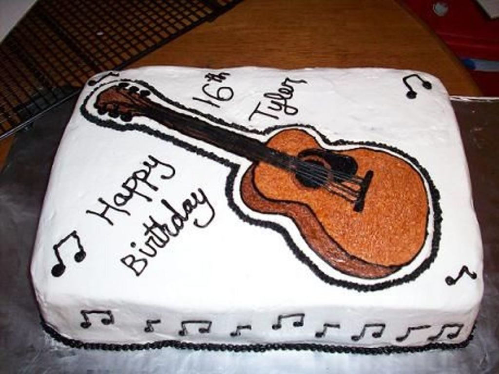 Miraculous Guitar Cake For 16 Yr Old Boy Cakecentral Com Personalised Birthday Cards Paralily Jamesorg