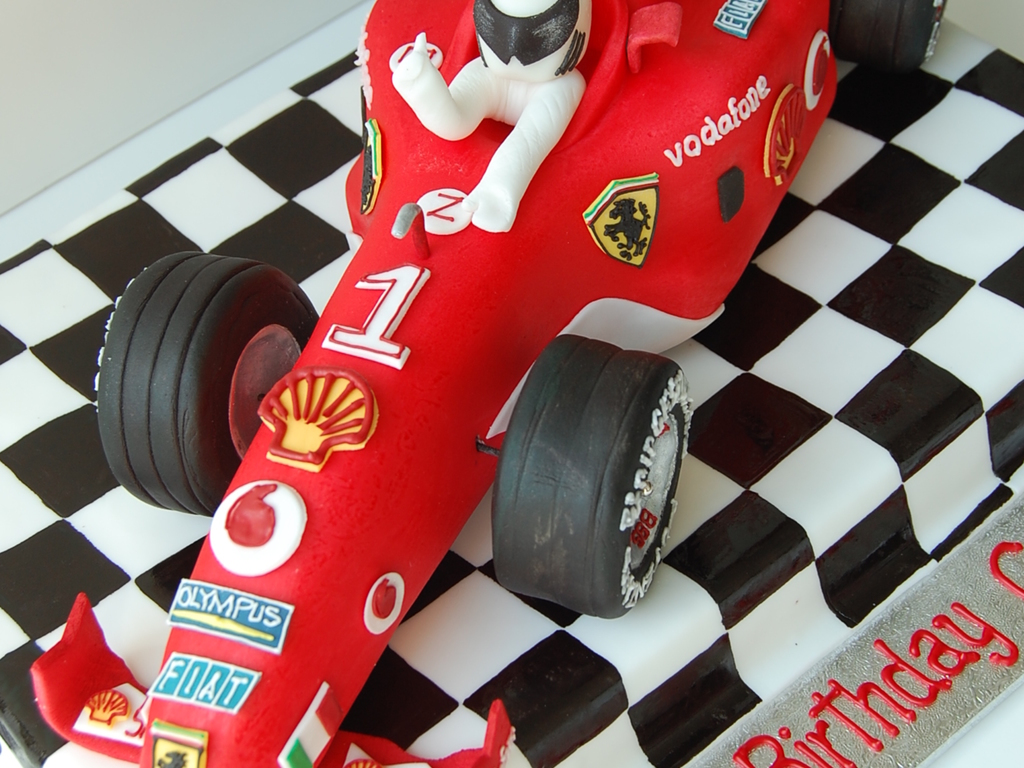Ferrari f1 race car birthday cake by charmpastry cakecentral baditri Gallery