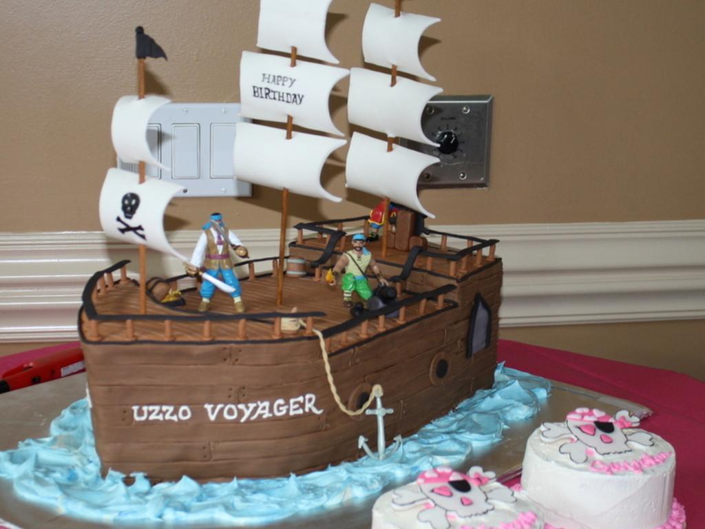 Wondrous Pirate Ship Birthday Cake Cakecentral Com Funny Birthday Cards Online Inifofree Goldxyz