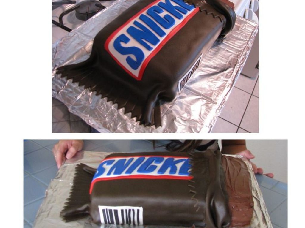 Superb Snickers Candy Bar Birthday Cake Cakecentral Com Funny Birthday Cards Online Hetedamsfinfo