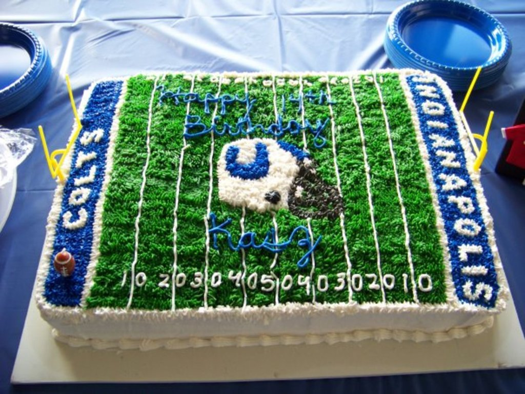Fantastic Indianapolis Colts Birthday Cake Cakecentral Com Birthday Cards Printable Inklcafe Filternl