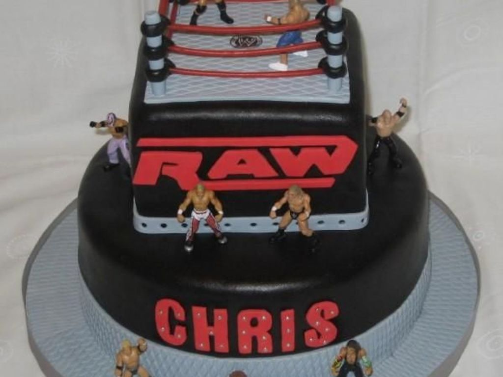 Fabulous Wwe Raw Birthday Cake Cakecentral Com Personalised Birthday Cards Paralily Jamesorg
