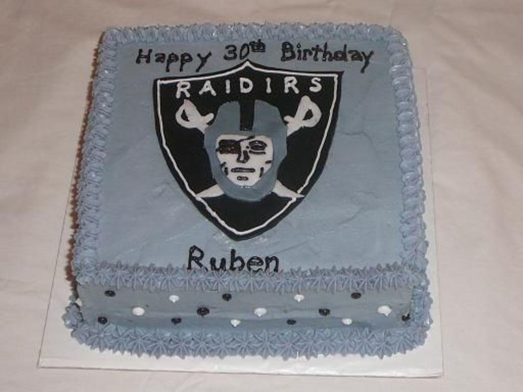 Amazing Oakland Raiders Birthday Cake Cakecentral Com Funny Birthday Cards Online Inifofree Goldxyz