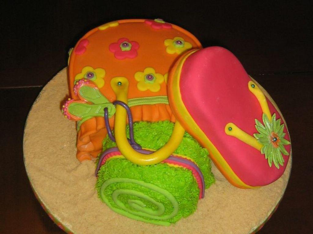 Beach Bag Cake - CakeCentral.com