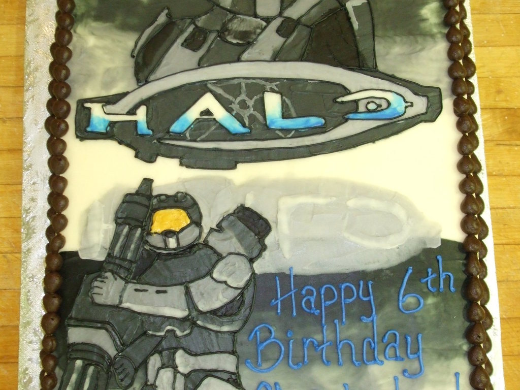 Enjoyable Halo Birthday Cake Cakecentral Com Birthday Cards Printable Nowaargucafe Filternl