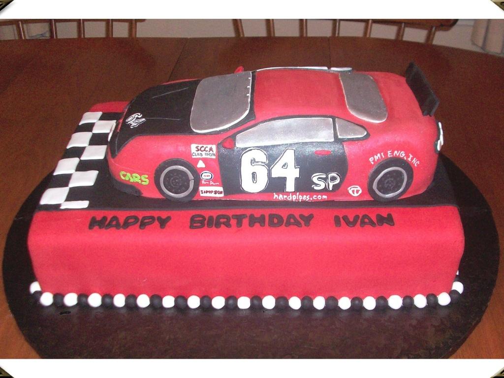 Race Car Birthday Cake Cakecentral