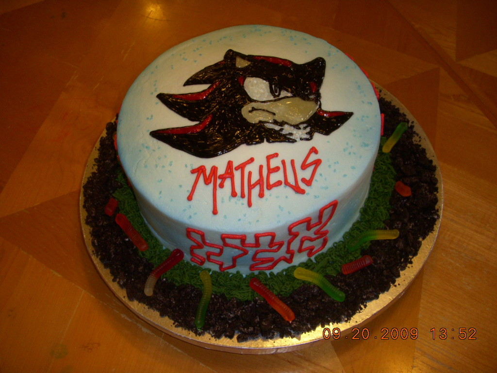 Shadow The Hedgehog Cake - CakeCentral com