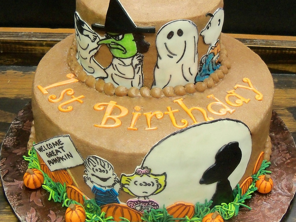 Prime Great Pumpkin Charlie Brown Birthday Cake Cakecentral Com Personalised Birthday Cards Paralily Jamesorg