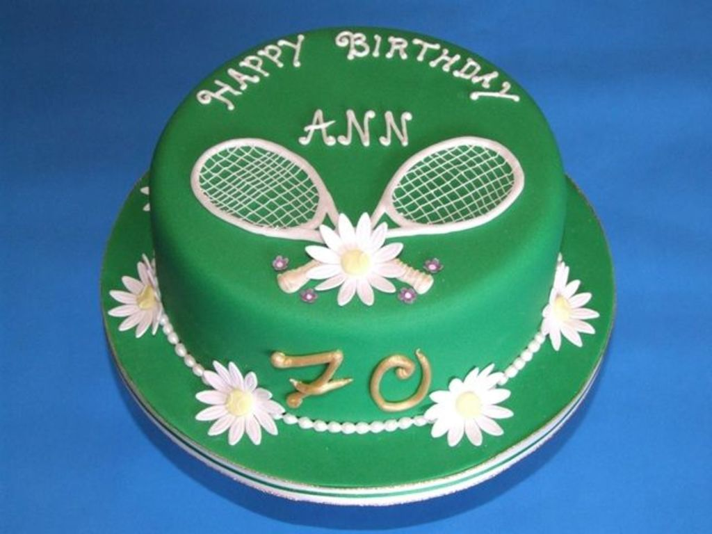 Tennis 70th Birthday Cake Cakecentral