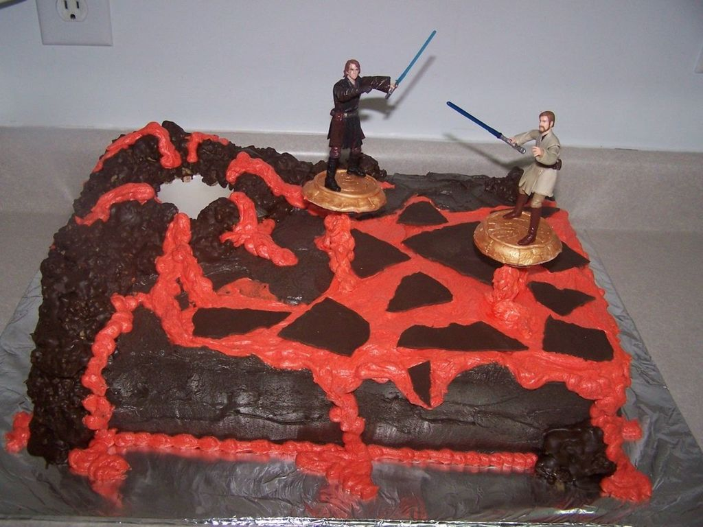 Star Wars Revenge Of The Sith Mustafar Scene Cake Cakecentral Com