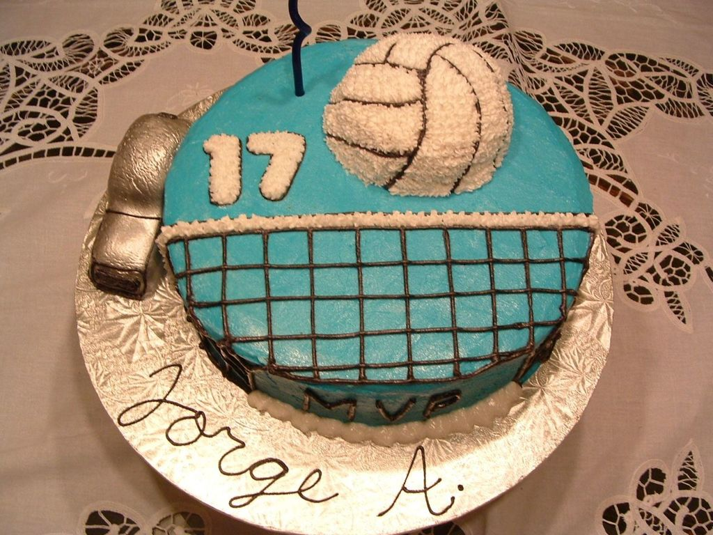 Cool Volleyball Birthday Cake Cakecentral Com Personalised Birthday Cards Beptaeletsinfo