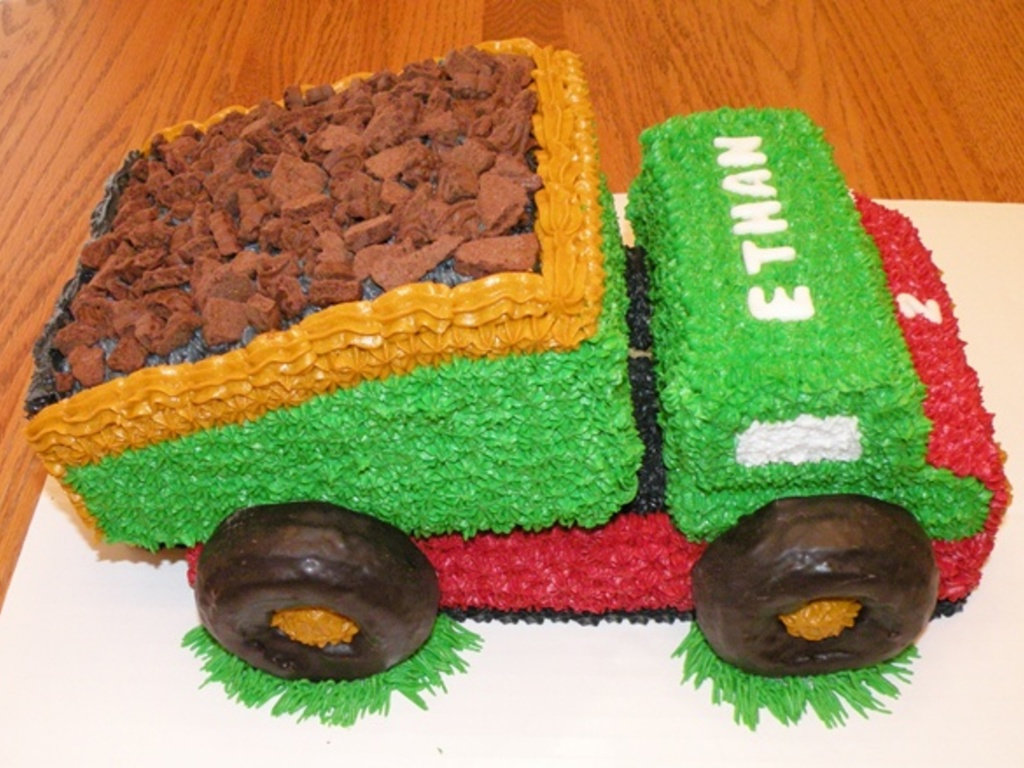 Astounding Dump Truck Birthday Cake Cakecentral Com Personalised Birthday Cards Sponlily Jamesorg